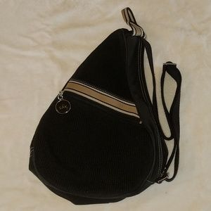The Sak black fabric purse